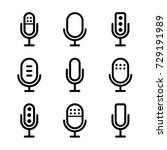 microphones icon set | Shutterstock .eps vector #729191989