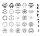 set of abstract design elements.... | Shutterstock .eps vector #729192709
