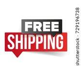 free shipping speech bubble... | Shutterstock .eps vector #729196738