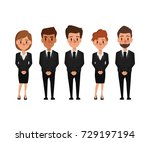 people in mourning dress... | Shutterstock .eps vector #729197194