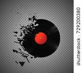 vintage vinyl records broken... | Shutterstock .eps vector #729200380