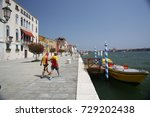 venice   august 1  2017  two... | Shutterstock . vector #729202438