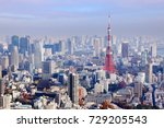 big city view   tokyo  japan.... | Shutterstock . vector #729205543