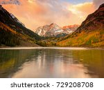 sunrise reflection at maroon... | Shutterstock . vector #729208708
