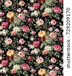 flowers pattern.for textile ... | Shutterstock . vector #729209170