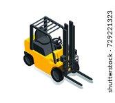 forklift for raising and... | Shutterstock .eps vector #729221323