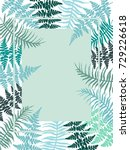 polypodiophyta plant fern... | Shutterstock .eps vector #729226618