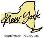 hand drawn new york state... | Shutterstock .eps vector #729227236