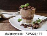 cacao chia pudding oatmeal... | Shutterstock . vector #729229474