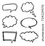 speech bubble with brush stroke ... | Shutterstock . vector #729229570