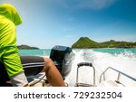 on speed   boat | Shutterstock . vector #729232504