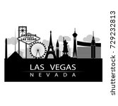 las vegas iconic on strip city... | Shutterstock .eps vector #729232813