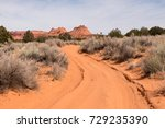 winding sandy road at vermilion ... | Shutterstock . vector #729235390