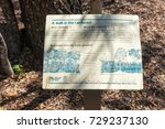 Small photo of Forty Mile Scrub, Queensland, Australia - September 15, 2017: Information sign describing what a dry rain forest is provided by Queensland Parks and Wildlife Services at Forty Mile Scrub in Queensland