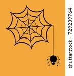 vector illustration of a spider ...   Shutterstock .eps vector #729239764