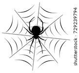vector illustration of a spider ...   Shutterstock .eps vector #729239794