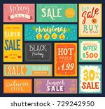 price tags sales stickers... | Shutterstock .eps vector #729242950