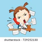 vector illustration of cartoon...   Shutterstock .eps vector #729252130