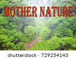 Small photo of Garden sign, or a green background , signification of a power of a nature , our green planet , ecology theme