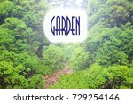 Small photo of Garden sign, or a green background , signification of a beautiful garden in a private place
