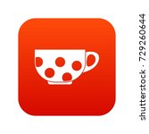 cup icon digital red for any... | Shutterstock .eps vector #729260644