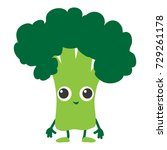 broccoli icon. cartoon... | Shutterstock .eps vector #729261178