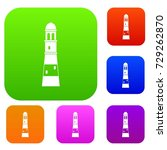 lighthouse set icon color in... | Shutterstock .eps vector #729262870