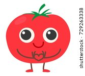 tomato icon. cartoon... | Shutterstock .eps vector #729263338