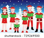 christmas concert with family. | Shutterstock .eps vector #729269500