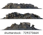 3d illustration heaps of rubble ... | Shutterstock . vector #729273664