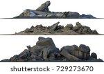 3d illustration heaps of rubble ... | Shutterstock . vector #729273670