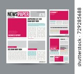 newspaper design blank vector.... | Shutterstock .eps vector #729285688