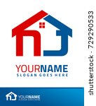 Initial N & J real estate logo template vector