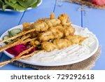 delicious golden deep fried... | Shutterstock . vector #729292618
