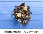 turkish delicious rice stuffed... | Shutterstock . vector #729294484