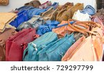 fake bags on the sale and... | Shutterstock . vector #729297799