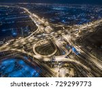 road traffic in city at... | Shutterstock . vector #729299773