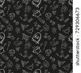 vector black and white seamless ... | Shutterstock .eps vector #729306673