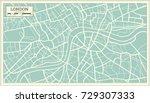 london map in retro style....   Shutterstock .eps vector #729307333