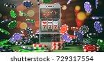 online gambling concept. slot...   Shutterstock . vector #729317554