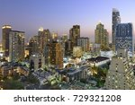 cityscape with sunset at before ... | Shutterstock . vector #729321208