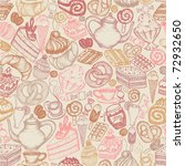 seamless doodle food pattern... | Shutterstock .eps vector #72932650