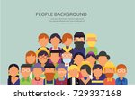 background of people in flat... | Shutterstock .eps vector #729337168
