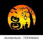 halloween | Shutterstock .eps vector #729346663
