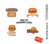 set of restaurant logo.... | Shutterstock .eps vector #729350800