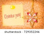 christmas party card with...   Shutterstock . vector #729352246