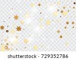 vector golden isolated confetti ... | Shutterstock .eps vector #729352786