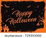 horizontal happy halloween... | Shutterstock .eps vector #729353500