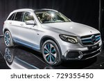 Small photo of Frankfurt, Germany, Sept 12, 2017: Pre-production car Mercedes-Benz GLC F-Cell EQ Power electric model at 67th International Motor Show (IAA) innovative fuel-cell, battery technology, plug-in hybrid