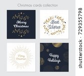christmas greeting cards.... | Shutterstock .eps vector #729355798